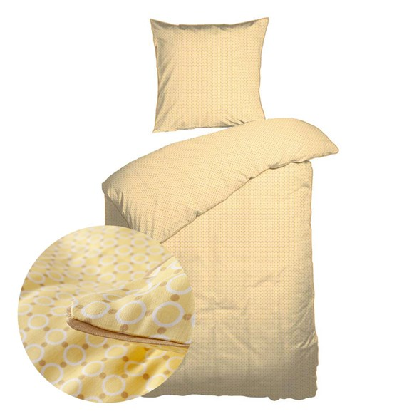 Baby sengetøj 70x100 cm - Økologisk Bomuld - Bambino Gul