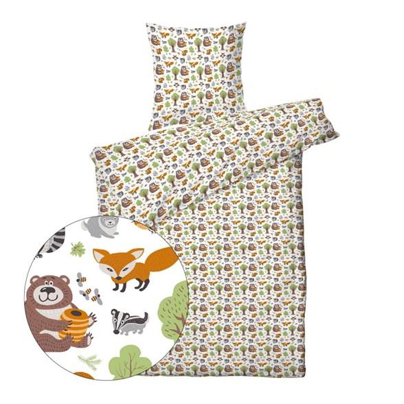 Børne sengetøj 140x200 cm - Skovens dyr - ProSleep Kids