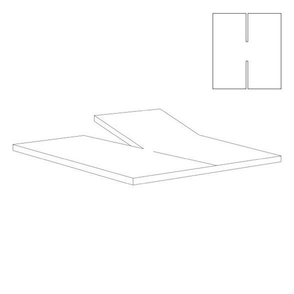 Outlet - Splitlagen - H Lagen - hvid - Bomuldssatin - 180x200 cm