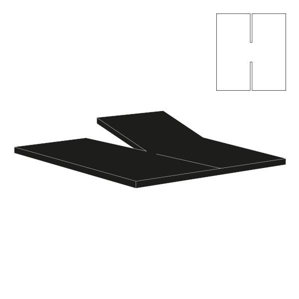 Splitlagen top og bund - Køb sort H-split lagen 160x200