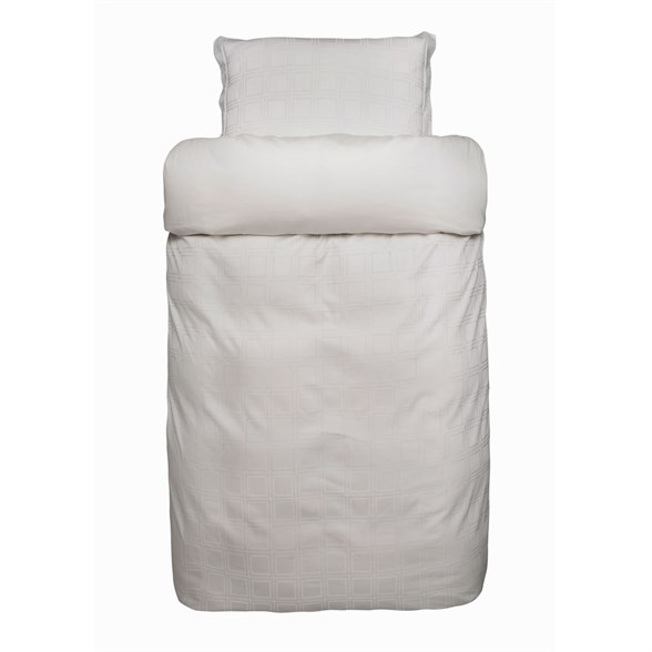 Høie sengetøj - Lisboa elfenben - vævet tern 140x200 cm