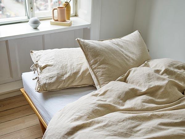 hør sengetøj Kvalitets hør Sengetøj 140x200 cm   Høie Live Natur hør sengetøj