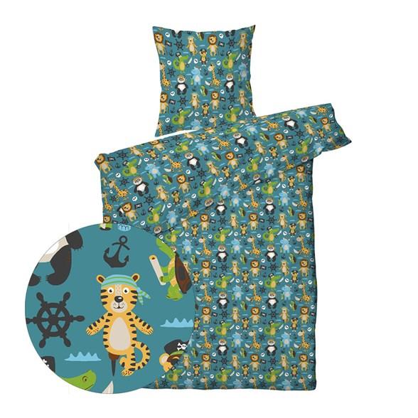 Børne sengetøj 140x200 cm - Pirat dyr - ProSleep Kids