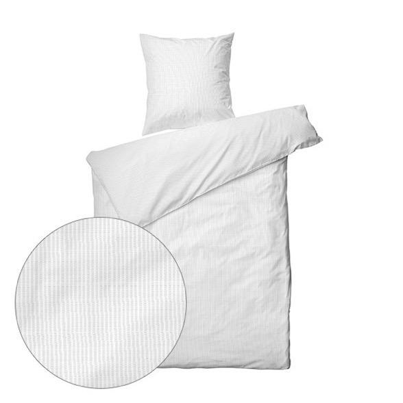 Sengetøj bomuld- 140x200 cm - Nano Krepp Hvid