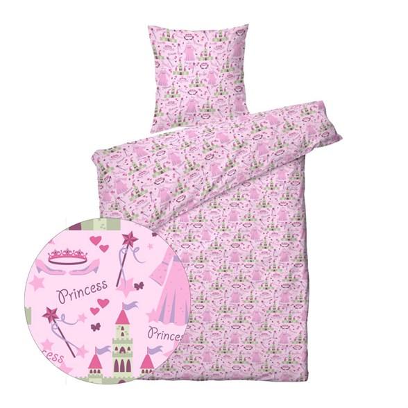 Børne sengetøj 140x200 cm - Prinsesse Slot - ProSleep Kids
