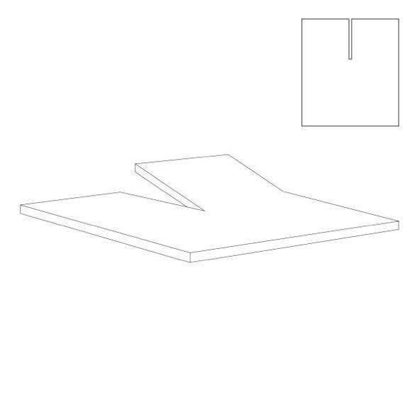 Outlet - Splitlagen - U Lagen - hvid - Bomuldssatin - 180x200 cm