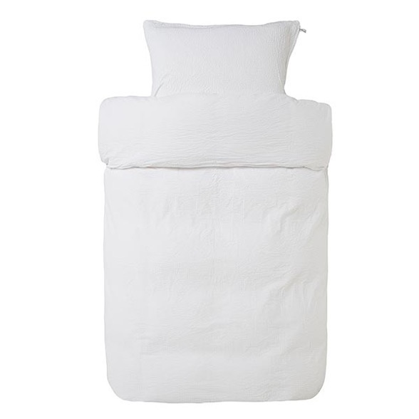 Høie Pure krepp sengetøj - hvid - vævet krepp 140x220 cm