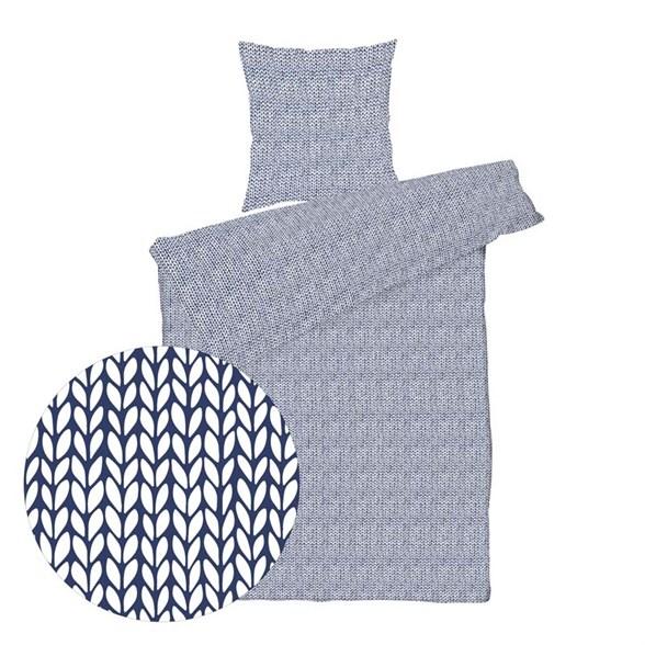Sengesæt bomuldssatin - 140x220 cm - Knitted