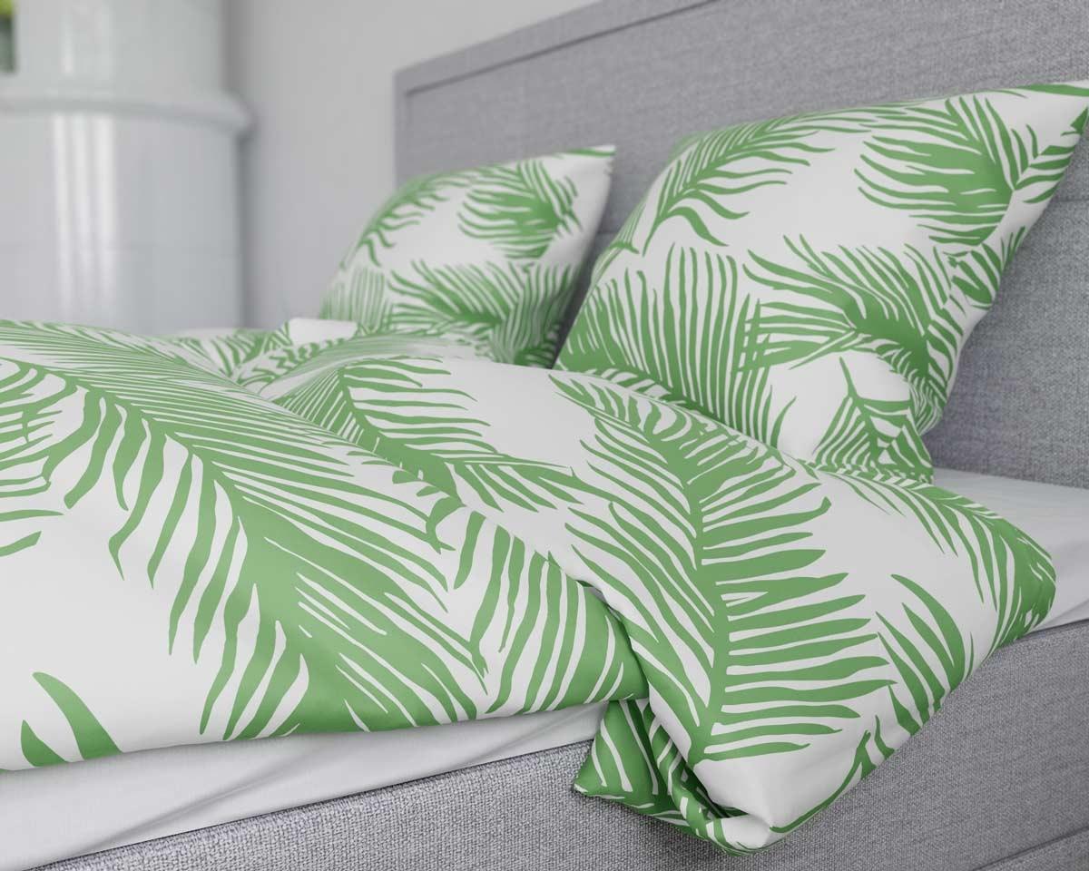 Picture of: Kob Sengetoj 140×200 Palm Green Kvalitets Sengetoj Her