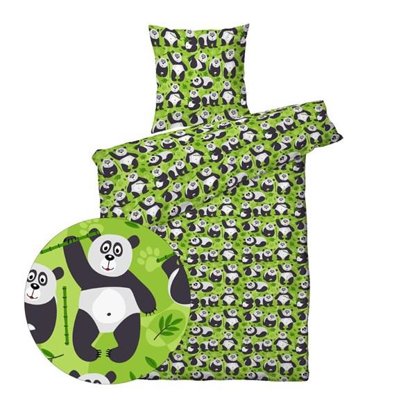 Børne sengetøj 140x200 cm - Panda - ProSleep Kids