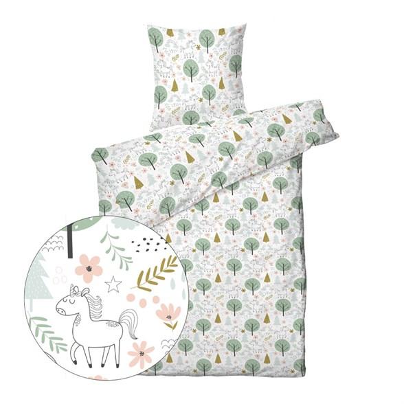 Børne sengetøj 140x200 cm - Unicorn Forrest - ProSleep Kids
